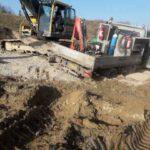 reparation trækhjul gravemaskine